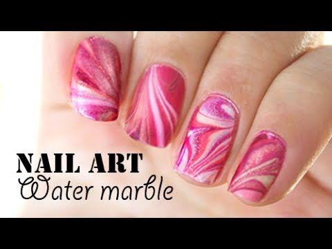 ▶ Nail art - Water marble // Debutant - YouTube