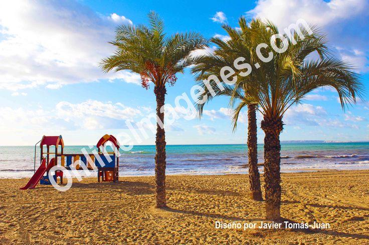 Compra imagen online para proporcionar consejos sobre jugar en la playa mediante estrategias de marketing de contenidos en páginas webs y redes sociales.