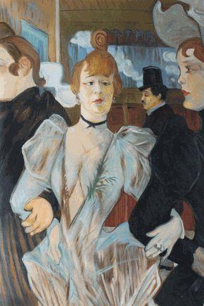 Toulouse-Lautrec - La Goulue Arriving at the Moulin Rouge - overstockArt.com