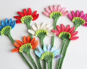 Crochet Flower Bookmarks by TheCraftPenguin on Etsy