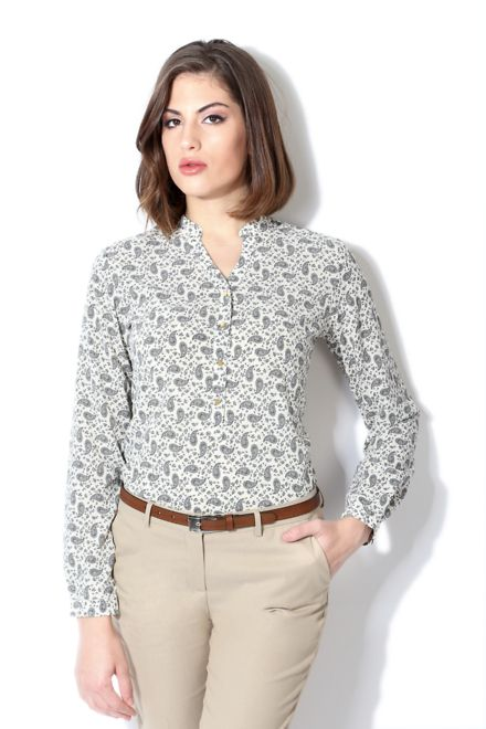Buy Van Heusen Woman Shirts & Blouses Online at Trendin.com - Shop Online for Van Heusen White Shirt for Women at Best Price with…
