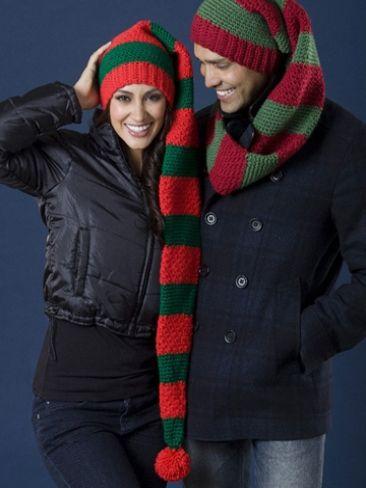 Scarf Hat Duo | Yarn | Free Knitting Patterns | Crochet Patterns | Yarnspirations