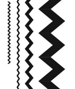 Free Printable- Chevron stencil for projects