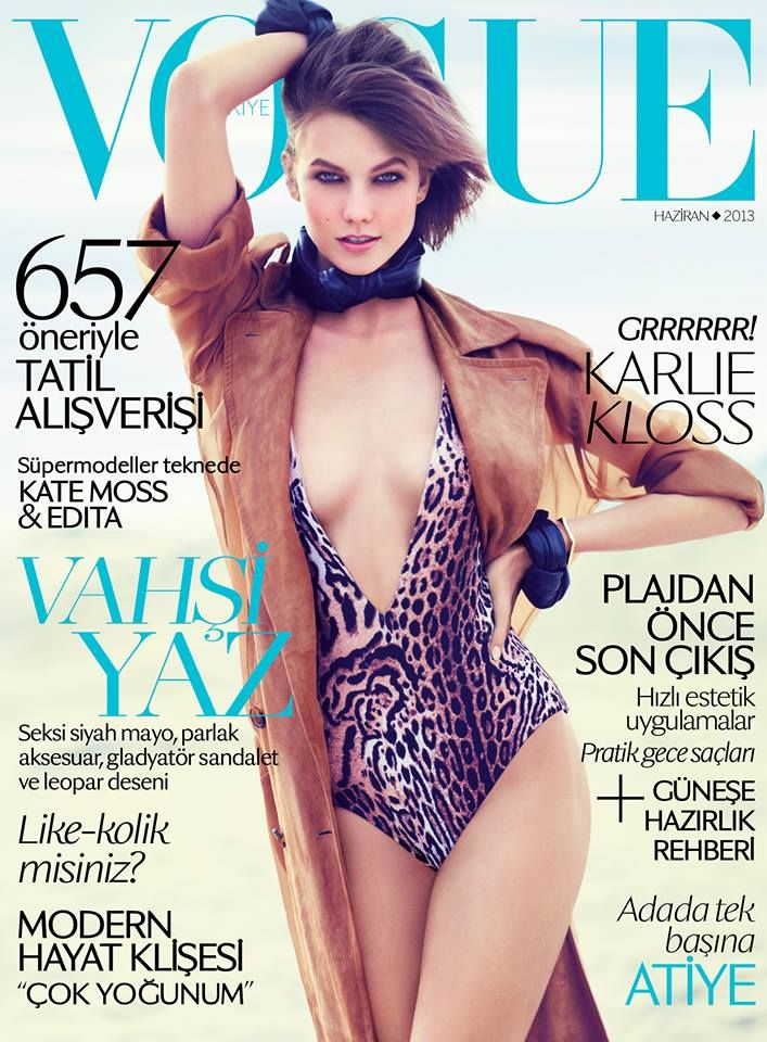 Vogue Turquia   Capa Junho 2013   Karlie Kloss