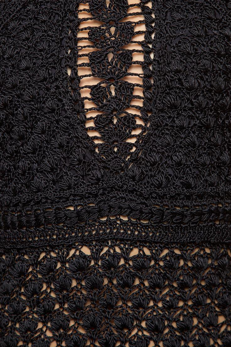 Body Crochet Paradise Preto - Vanessa Montoro - vanessamontoro