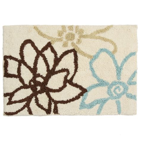 Best Bathrooms Images On Pinterest Bath Rugs Bathroom - Floral bathroom rugs for bathroom decorating ideas