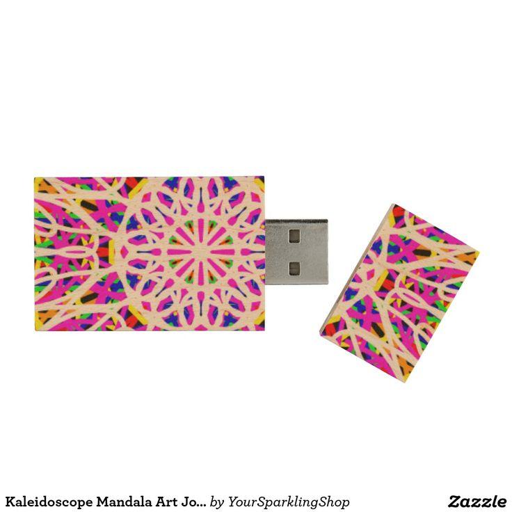 Kaleidoscope Mandala Art #Joy USB flashDrive Wood USB 2.0 Flash Drive