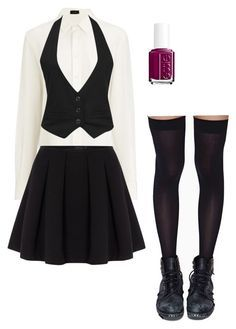 """""""Private School Uniform"""" by katiemiller-v on Polyvore featuring Leg Avenue, Joseph, Forever 21, Polo Ralph Lauren and Essie"""