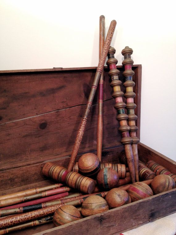 Victorian Croquet- maybe a texture on the bottom that could mimic the lines of the mallet- still sophisticated but a bit fun