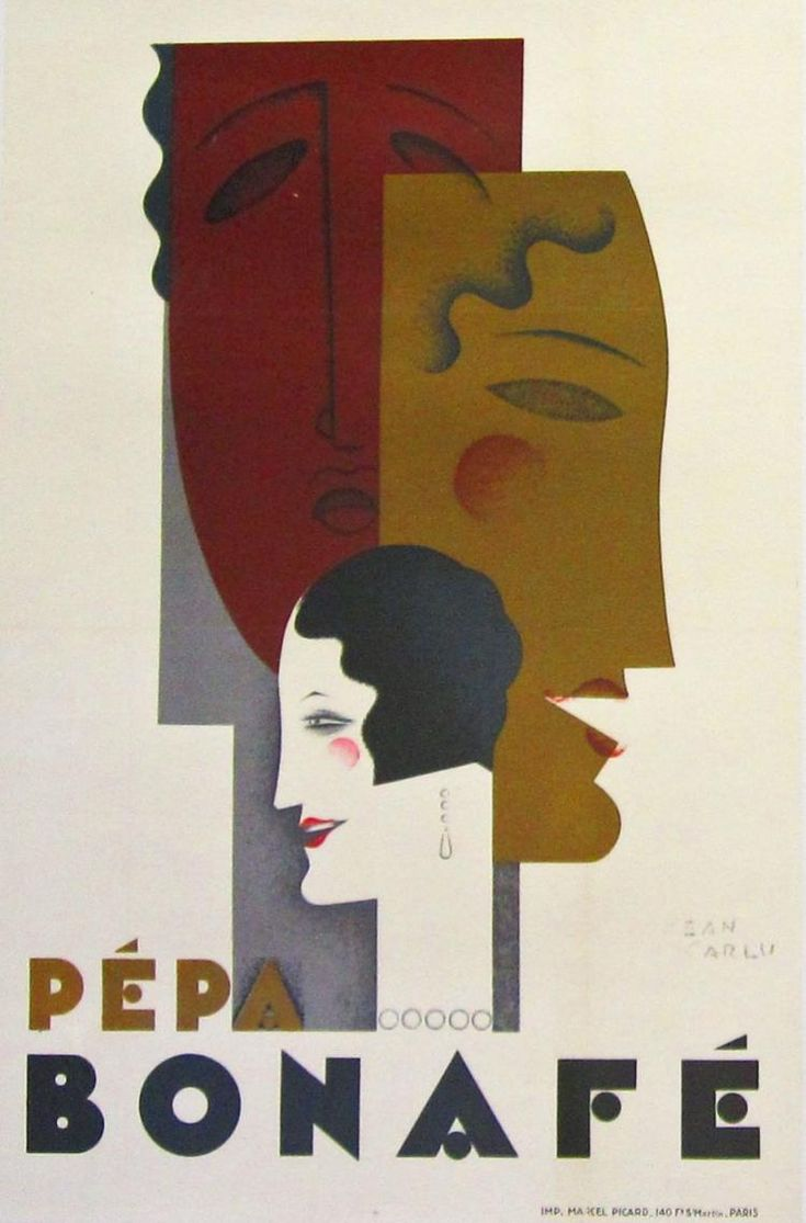 30s poster design -  Pepa Bonafe 1928 Color Lithograph By Jean Carlu S One Of The Early Twentieth Art Deco Posters1930sbuy Nowdesigners