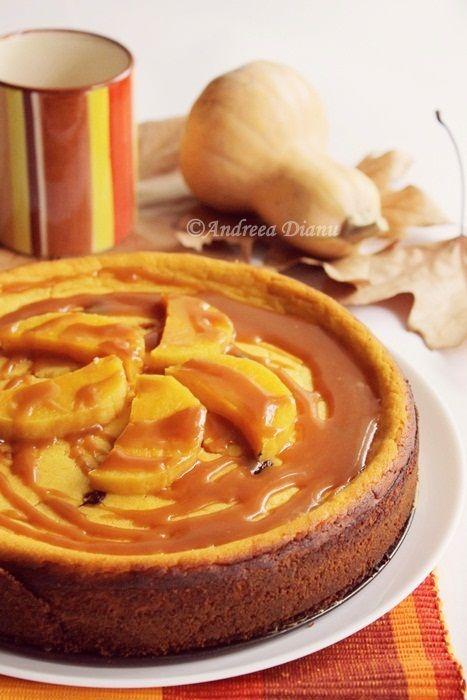 Cheesecake cu dovleac si caramel | Pasiune pentru bucatarie