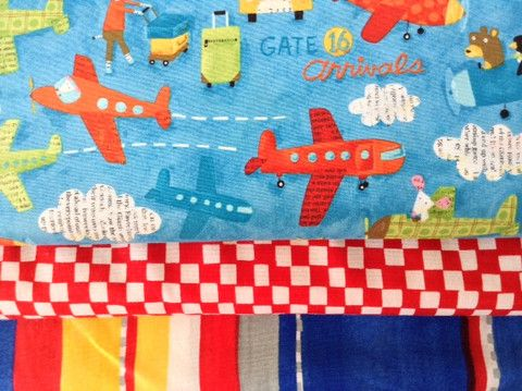 Airport by Japanese designers, Kokka, is a bright fun boys fabric 15.00 #kokka #japanesefabric #boysfabric
