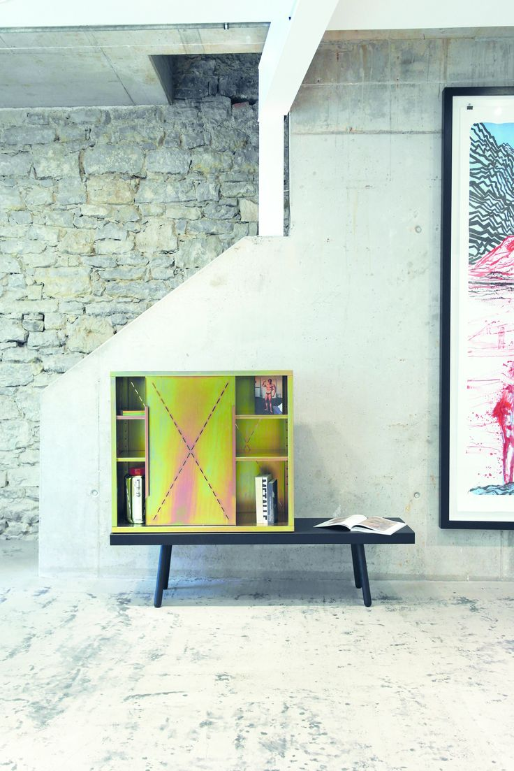 Amazing Storage Tauber Cabinet by Sebastian Herkner for pulpo Material u color yellow galvanised