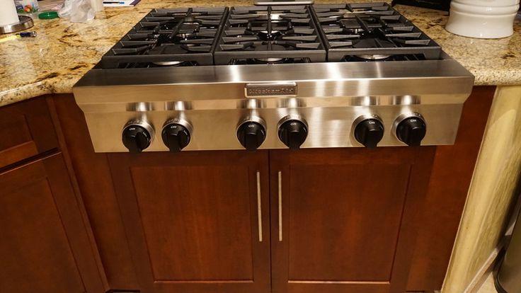Kitchenaid 36 6 sealed burner gas cooktop kgcu467vss