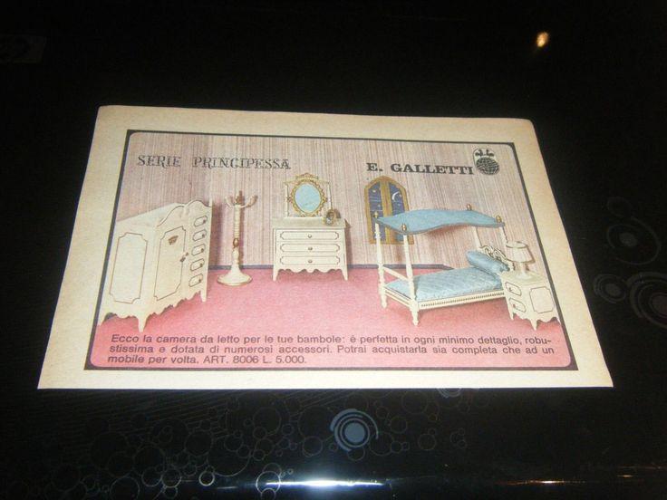 PUBBLICITA '' ADVERTISING CAMERA PER BAMBOLE E GALLETTI 1969