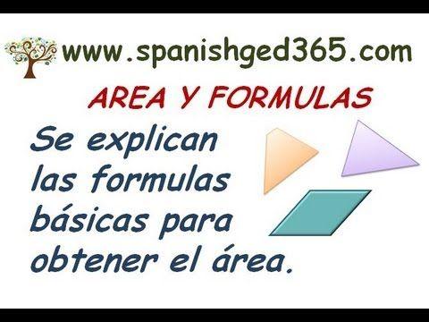 Se explica como obtener el area del cuadrado, rectangulo, paralelogramo, trapecio y circulo