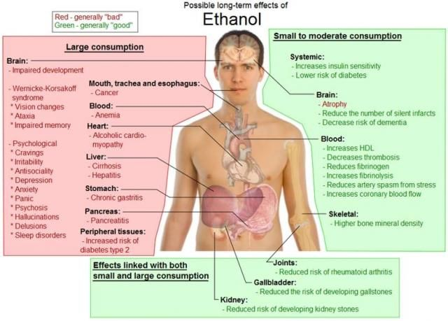 Week 9, Pin 1: This diagram explains the different effects ethanol has on the body and its functions. Ethanol is the ingredient in alcohol that causes intoxication.
