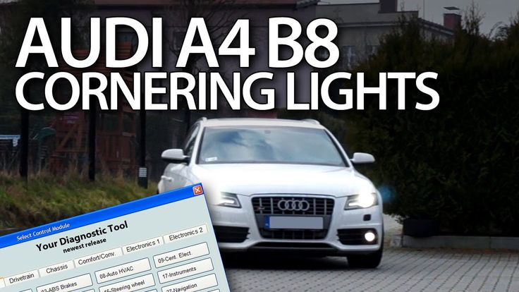 How to enable #cornering #lights in #Audi #A4 B8 2008-2015 #VCDS #activation #cars #S4 #RS4