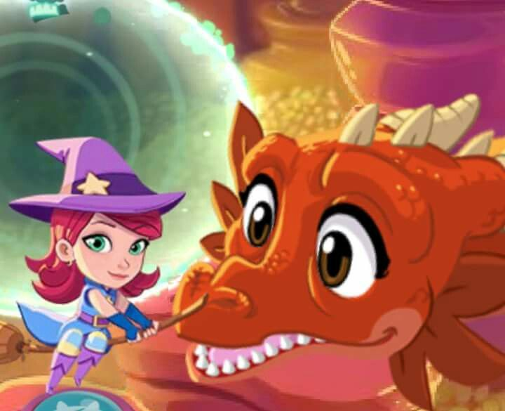 Bubble Witch 3 Saga - Stella the Witch Girl and Leila the Red Dragon