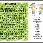 "Use this friendship word search as part of a friendship unit or for an extra activity to have on hand. Have students discuss why the words are ""fri..."