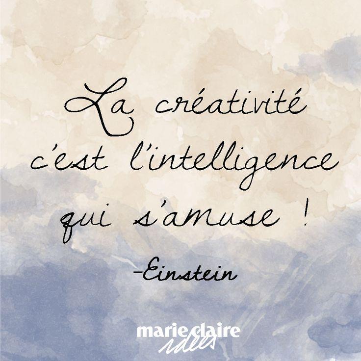 La créativité c'est l'intelligence qui s'amuse ! Creativity is intelligence that is fun!