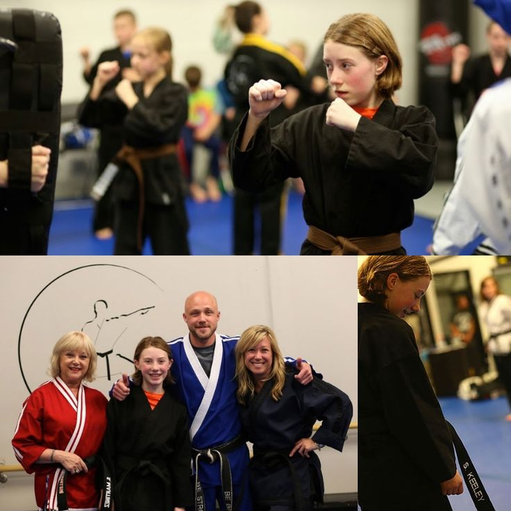 """At the age of 11, Sophia Keeley holds black belt in karate, a martial arts form that her family has found to be very valuable for them. Black belts run in the family. Sophia Keeley, of Shoreview, earned her first degree black belt in karate earlier this summer, joining the ranks of her grandmother Susan Martinez, left, her uncle and instructor Jake Erling and her aunt Noelle Erling, on the right. What will she do next? Go for the next degree of black belt, """"of course,"""" Sophia Keeley says. -"""