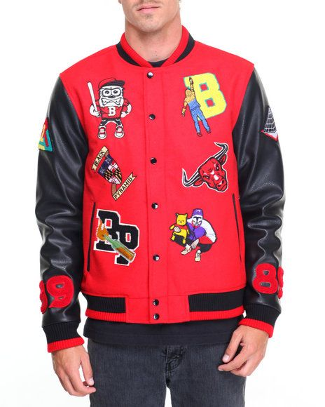 Find B P Multi - Patch Letterman Jacket Men's Outerwear from Black Pyramid & more at DrJays. on Drjays.com