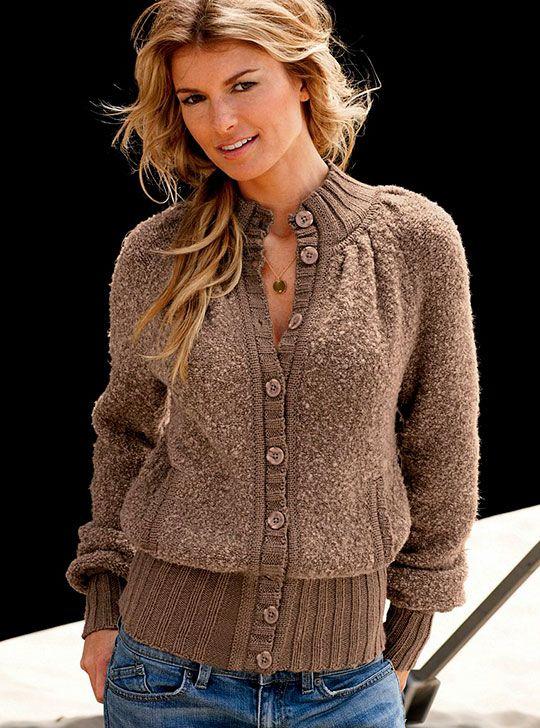 модные вязанные кофты женские спицами фото и схемы