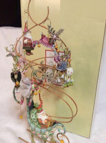 Dept 56 Christmas Krinkles Mini Ornament Tree Santa Sleigh