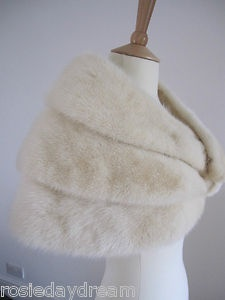 White mink wedding stole http://www.ebay.co.uk/itm/VINTAGE-WHITE-CREAM-IVORY-REAL-MINK-FUR-STOLE-WRAP-CAPE-SHRUG-BOLERO-JACKET-/150951123043?pt=UK_Wedding_Dresses=item2325635863&_uhb=1