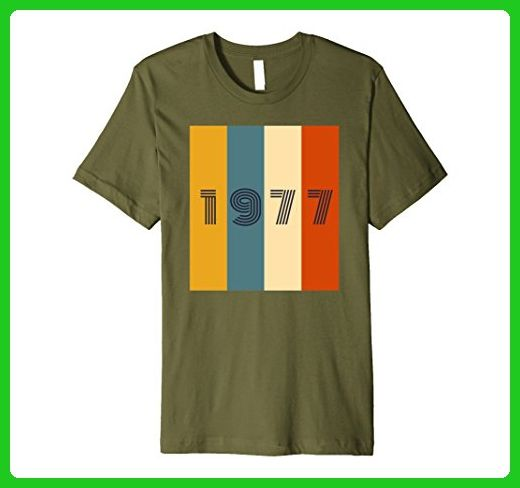 Mens 40th Birthday Gift Vintage T-Shirt. Born in 1977 Retro Shirt Medium Olive - Retro shirts (*Amazon Partner-Link)