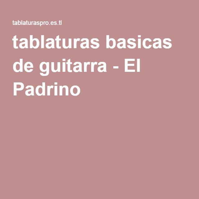 tablaturas basicas de guitarra - El Padrino