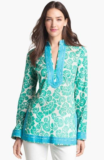 LOVE her tunics! Tory Burch Tory Tunic available at #Nordstrom