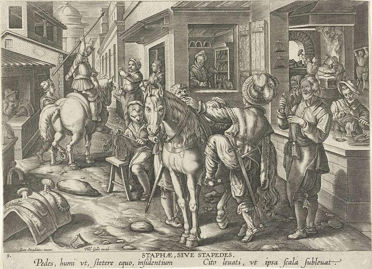 Stijgbeugels, Philips Galle, ca. 1589 - ca. 1593