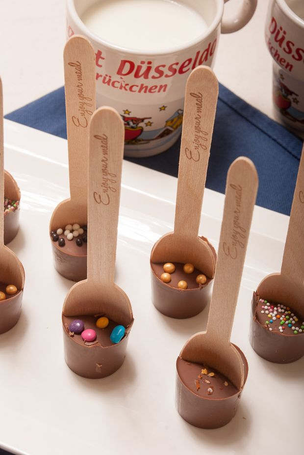 Melkchocoladelepels (om chocolademelk te maken) - Keuken♥Liefde