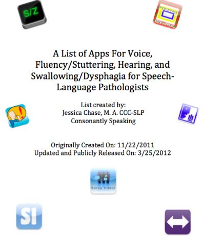 A List of Apps For Voice, Fluency, Hearing, and Swallowing -  Pinned by @PediaStaff – Please Visit http://ht.ly/63sNt for all our pediatric therapy pins