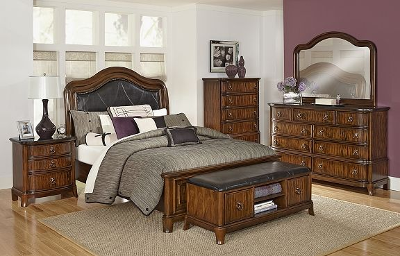 Kingston bedroom collection value city furniture queen bed bedroom sets pinterest for Value city furniture bedroom set