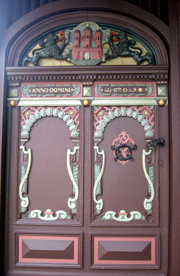 Doors of a house in Rendsburg