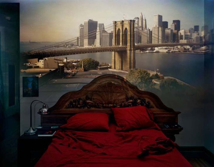 Abelardo Morell -Camera Obscura,View of the Brooklyn Bridge in Bedroom, 2009 - official site – http://www.abelardomorell.net/posts/camera-obscura/