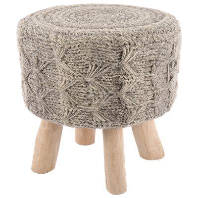 Krukje Kohima Ø40 x 40 cm grijs #Kruk #Casabella #Wonen #Furniture