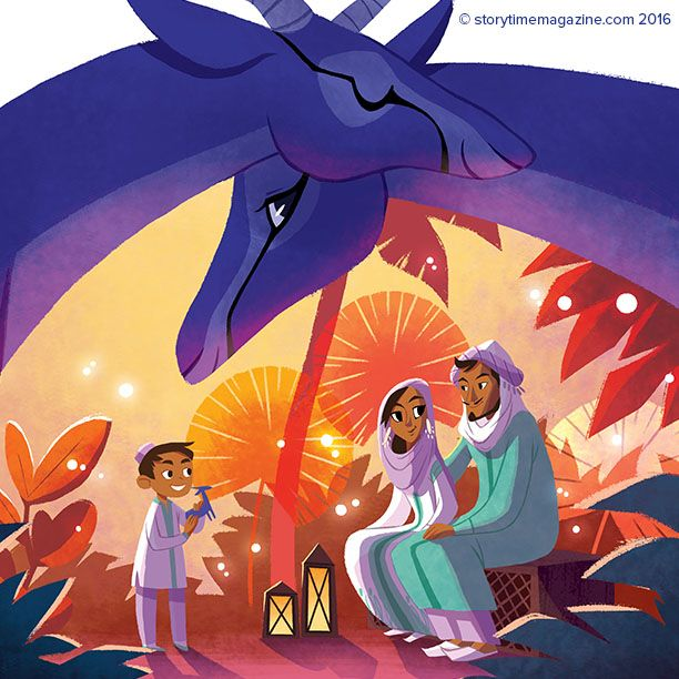 Gorgeous gazelles from @theartofphlox for Storytime Issue 26! A Middle Eastern tale ~ STORYTIMEMAGAZINE.COM