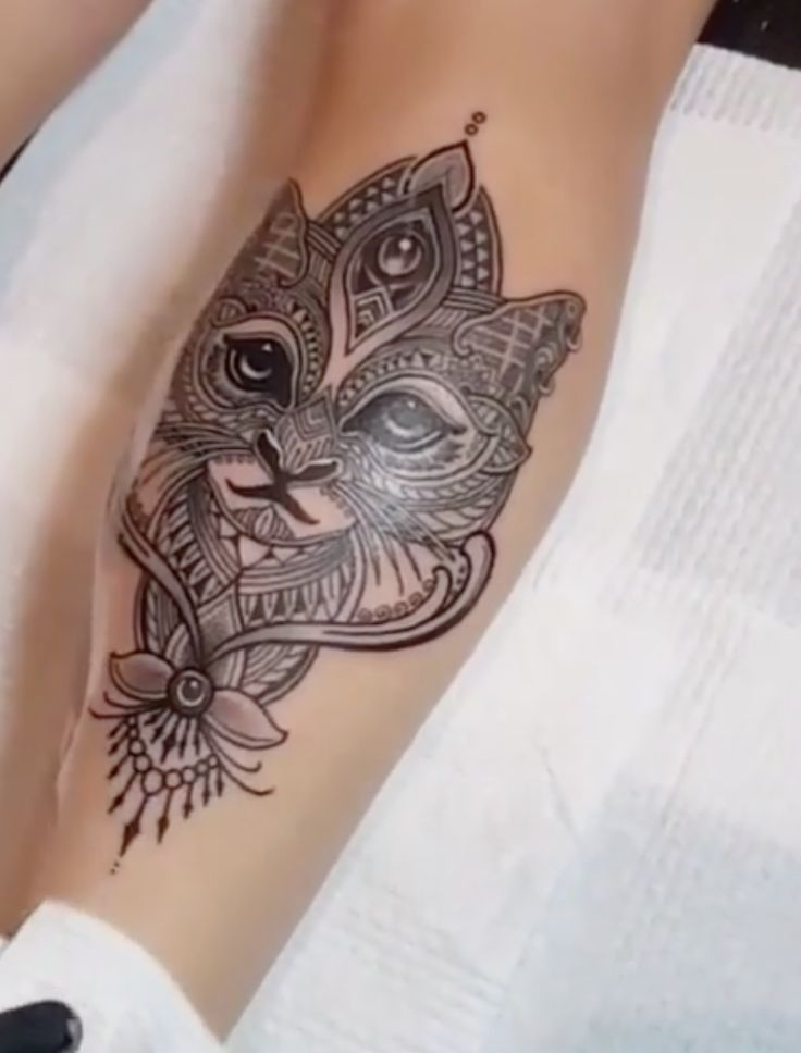 Mosaic Cat Tattoo