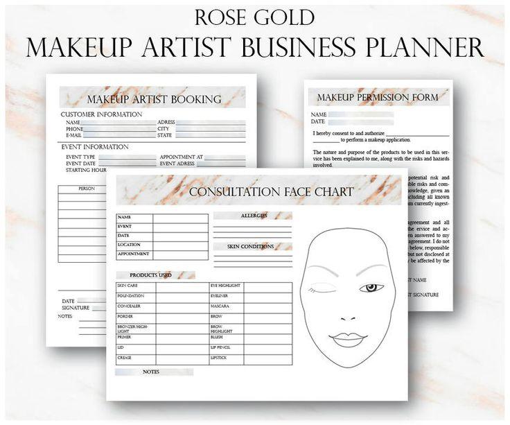 25+ spraakmakende ideeën over Freelance makeup artist op Pinterest - customer information form template