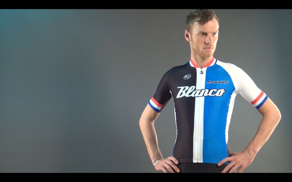 Lars Boom in his new Blanco-shirt.