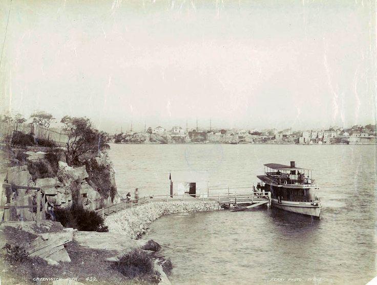 Greenwich Pier/Wharf , Sydney, Australia. 1880's. v@e.