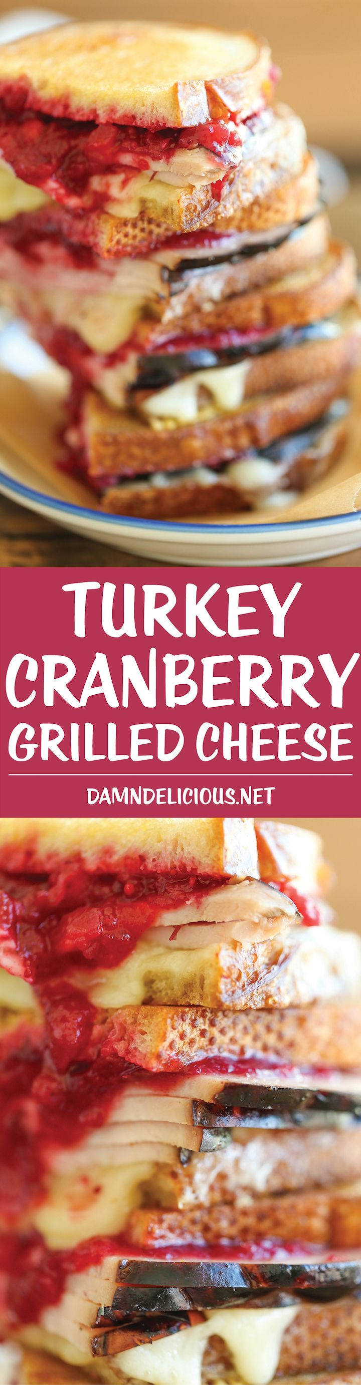 Turkey Cranberry Grilled Cheese - Transform your leftovers into the easiest and most amazing post-Thanksgiving sandwich. It will be the BEST grilled cheese!