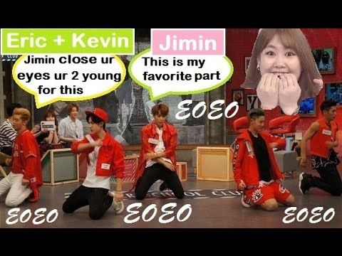 Jimin (15&) fangirling over UNIQ on ASC Moments