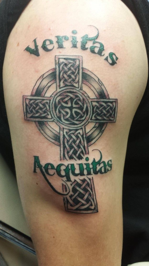 46 best boondock saints cross tattoo images on pinterest for Veritas aequitas tattoos
