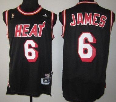 wholesale dealer 17090 d87a0 nba jerseys miami heats 6 lebron james black latin nights ...