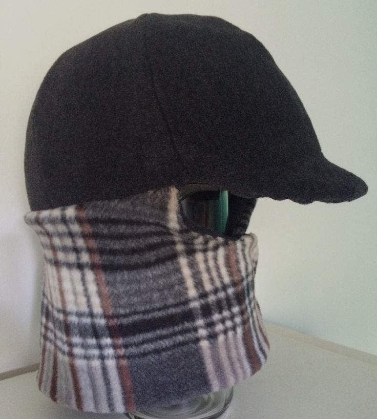 Charcoal Gray Brown  Plaid Equine Horseback Riding Winter Helmet Cover handmade horse tack Equestrian Wear ULTRA LAMBSWOOL FLEECE by TheStitchingHorse on Etsy https://www.etsy.com/listing/476562976/charcoal-gray-brown-plaid-equine
